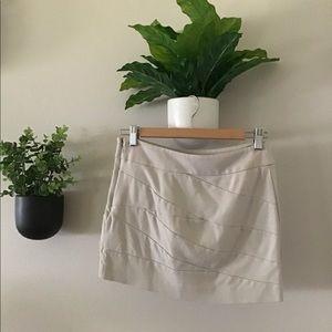 Express Off-White Mini Skirt